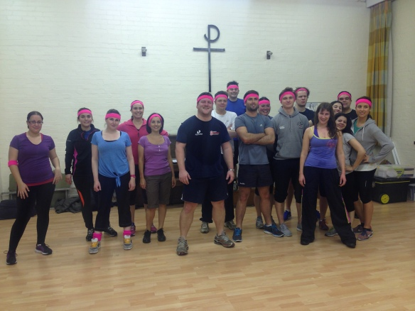 We are the ones in the pink headbands